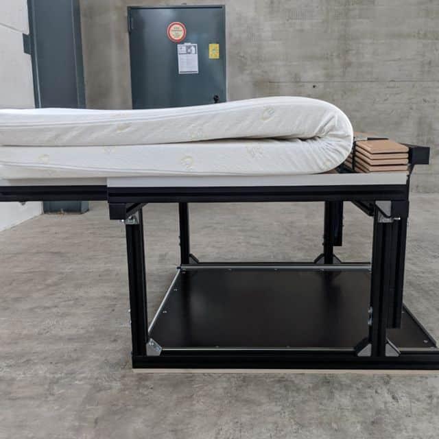 Einbaubett zum Camping für Volkswagen T5, T6 von Kahlis Schlafsysteme